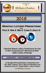 """999's Weekly Pick 3 """"All State"""" Predictions – December 1-7"""
